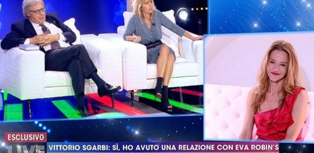 """Vittorio Sgarbi: """"Io e Eva Robin's abbiamo avuto un rapporto a tre con una famosissima, ora morta"""""""