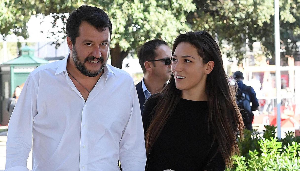 Matteo Salvini, un bebè da Francesca Verdini