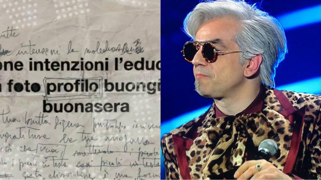 """Morgan ne combina un'altra delle sue: """"Mette all'asta il testo modificato di """"Sincero"""" cantato a Sanremo. La cifra più alta è da capogiro."""