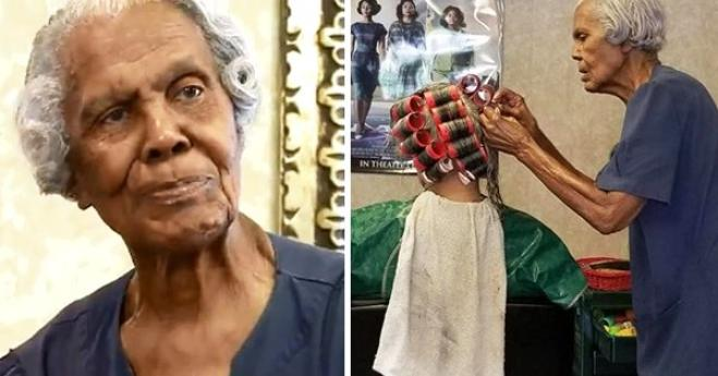 Donna di 101 anni lavora ancora come parrucchiera!
