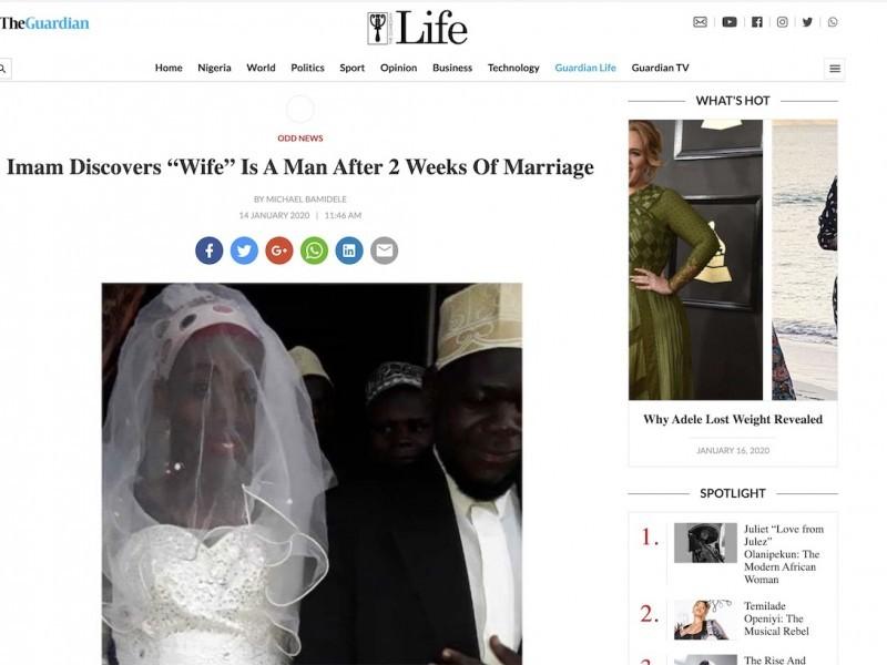 """Imam scopre che la """"moglie"""" è un uomo dopo due settimane di matrimonio"""