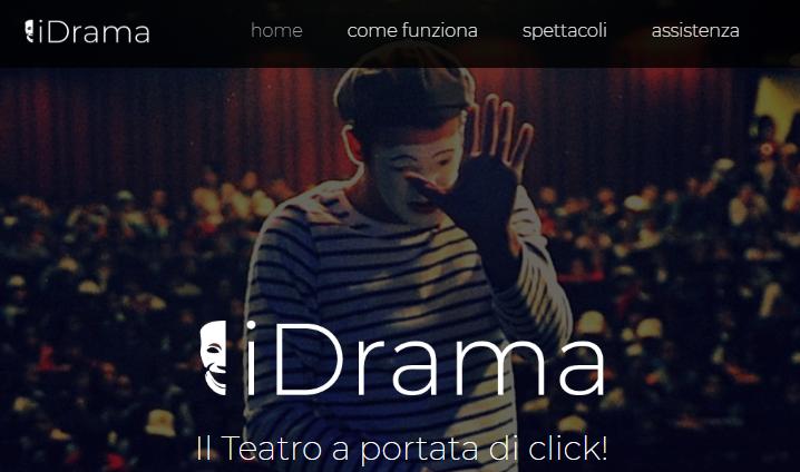 Nasce i-Drama la nuova piattaforma dedicata al teatro!