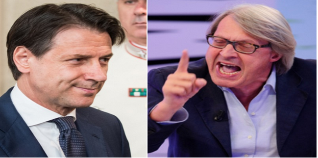 """Sgarbi attacca Giuseppe Conte: """"Ha rotto i cogl…"""""""