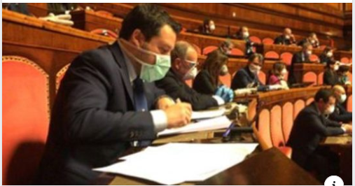 """Coronavirus, Salvini: """"Se Cina ha coperto l'epidemia ha commesso un crimine contro l'umanità"""""""