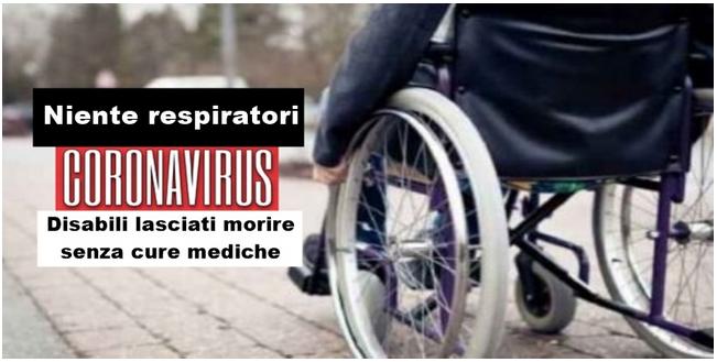 """Coronavirus in America: """"Niente respiratori per i malati disabili"""" lasciati a morire soli e senza cure"""