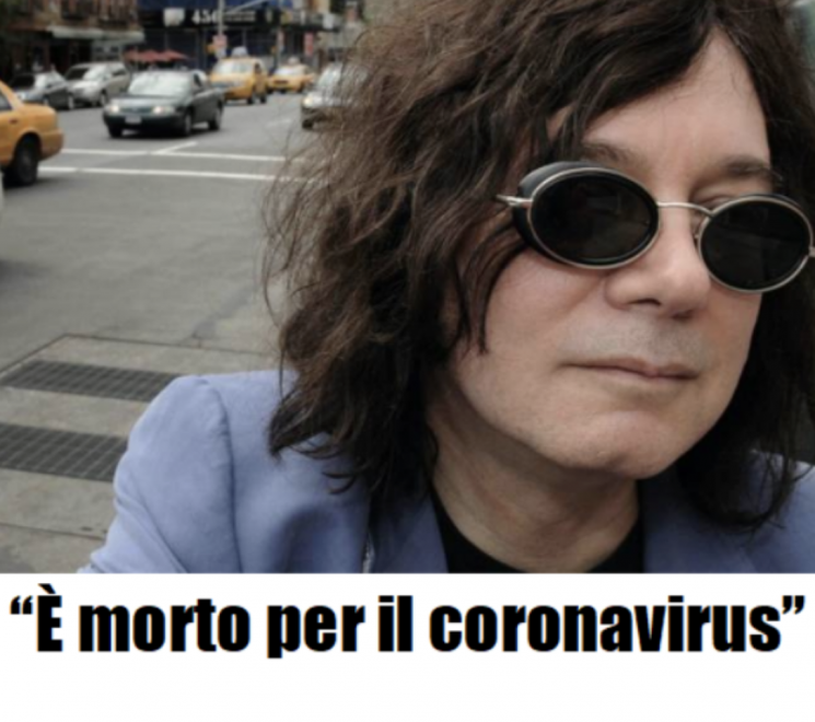 """""""È morto per il coronavirus"""". Lutto nella musica, un altro c"""